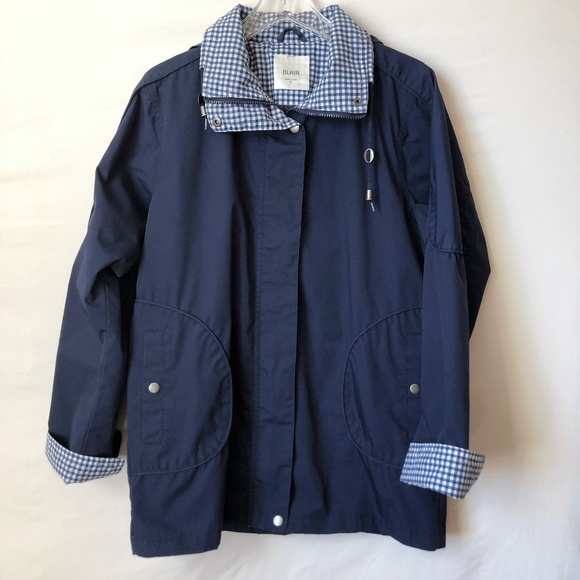 Blair Jackets & Blazers - Blair Navy Blue Rain Coat Size Small